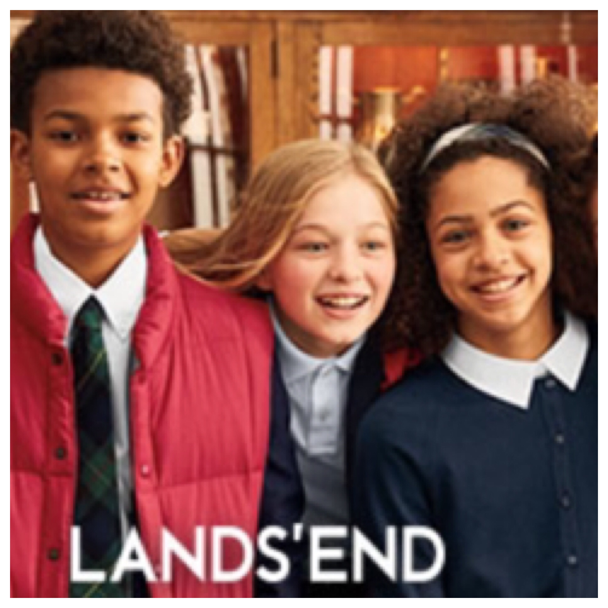 c38f41c9b Lands End is my go to for uniforms. My daughter's colors are navy blue and  white. I don't know how my daughter grew so fast but I'm glad Lands End has  her ...